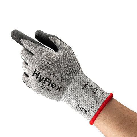 Ansell Size 10 HyFlex® 13 Gauge Nylon, Lycra®, Glass Fiber And DSM Dyneema® Cut Resistant Gloves With Polyurethane Coated Palm