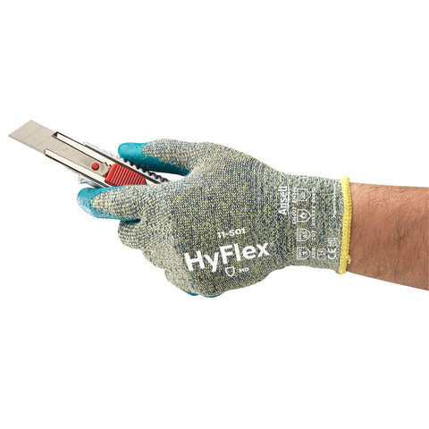 Ansell Size 10 HyFlex® 13 Gauge INTERCEPT Technology And DuPont Kevlar® Cut Resistant Gloves With Foam Nitrile Coated Palm   -Price is per 1 Pair