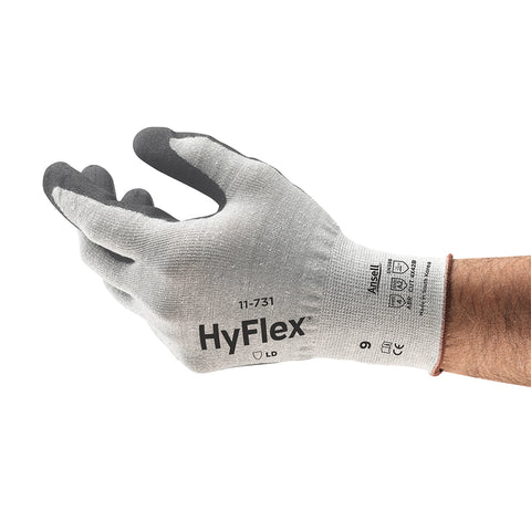 Ansell Size 10 HyFlex® 18 Gauge INTERCEPT Technology Cut Resistant Gloves With Polyurethane Coated Palm