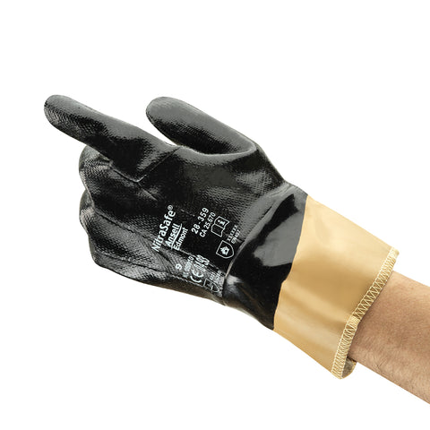 Ansell Size 10 Nitrasafe® DuPont Kevlar® Cut Resistant Gloves With Nitrile Full Coat Coating   -Price is per 1 Pair