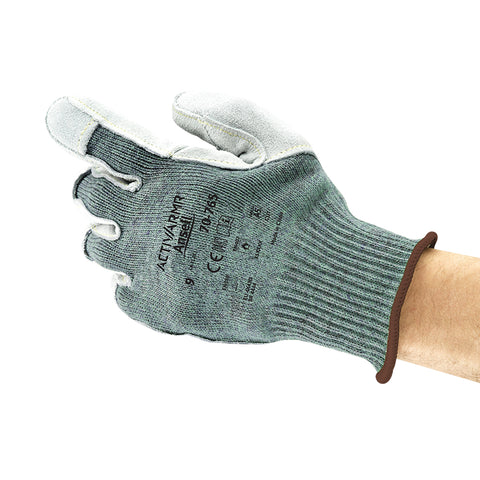 Ansell Size 10 ActivArmr® 10 Gauge Acrylic, Nylon And DuPont Kevlar® Cut Resistant Gloves With Leather Palm