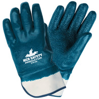 MCR Safety Large Predator Nitrile Full Dip Coating Jersey Work Gloves