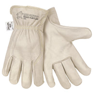 Memphis Glove Medium Pearl Premium Cowhide Unlined Drivers Gloves With Rolled Leather Hem And DuPont Kevlar® Stitching