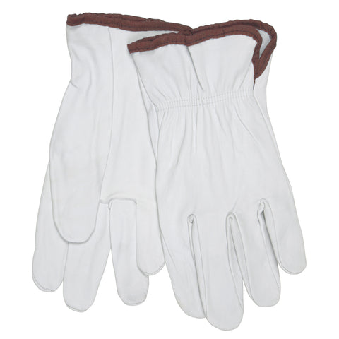 Memphis Glove X-Large White Premium Goatskin Unlined Drivers Gloves