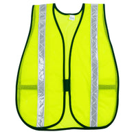 MCR Safety® Hi-Viz Lime MCR Safety® Polyester Mesh General Purpose Chevron Vest   -Price is per 12 Each