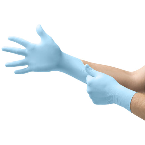 Ansell Large Blue Microflex XCEED Nitrile Disposable Gloves