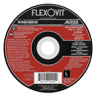 "Flexovit® 4"" X 1/8"" X 3/8"" HIGH PERFORMANCE 30 Grit Aluminum Oxide Grain Reinforced Type 27 Depressed Center Cut Off Wheel   -Price is per 25 Each"