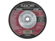 "Flexovit® 6"" X 1/4"" X 5/8"" - 11 HIGH PERFORMANCE 30 Grit Aluminum Oxide Grain Reinforced Type 27 Spin-On Depressed Center Grinding Wheel   -Price is per 10 Each"