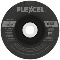 "Flexovit® 7"" X 1/8"" X 7/8"" FLEXCEL® 50 - 120 Grit Aluminum Oxide Grain Reinforced Type 29 Semi Flexible Grinding Wheel   -Price is per 1 Each"