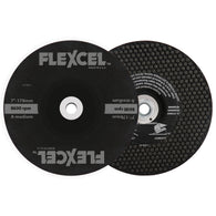 "Flexovit® 7"" X 1/8"" X 7/8"" FLEXCEL® 24 - 60 Grit Aluminum Oxide Grain Reinforced Type 29 Semi Flexible Grinding Wheel   -Price is per 50 Each"