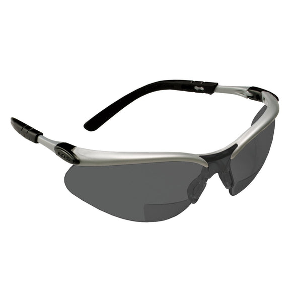 3M BX Reader Protective Eyewear 11379-00000-20 Gray Lens  Silver Frame  +2.5 Diopter -Price is per 1 Each