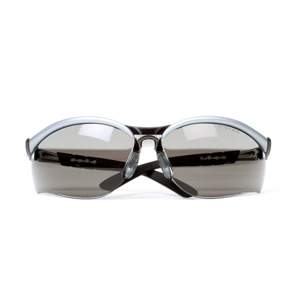 3M BX Silver And Black Frame Safety Glasses With Gray Anti-Fog Lens
