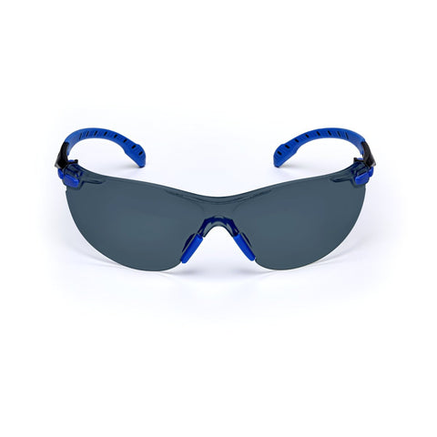 3M Solus 1000 Series Safety Glasses With Blue And Black Polycarbonate Frame And Gray Polycarbonate Scotchgard Anti-Fog Lens