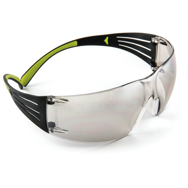 3M SecureFit Black/Green Safety Glasses With Gray Mirror/Indoor/Outdoor Lens