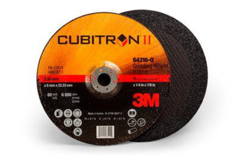 3M Cubitron II Depressed Center Grinding Wheel 64316  T27  9 in x 1/4 in x 7/8 in-Price is per 1 Each