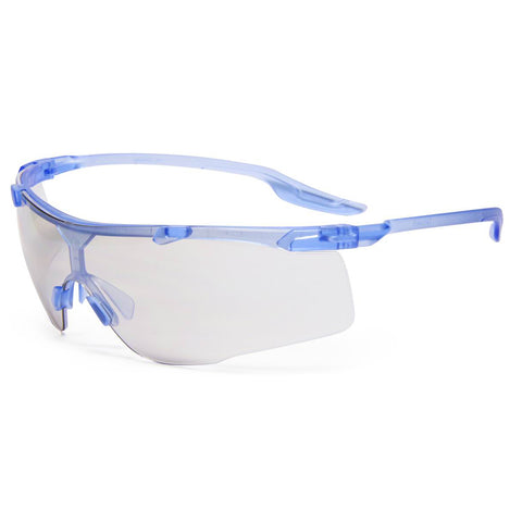 RADNOR® Saffire Blue Safety Glasses With Gray Polycarbonate Anti-Scratch Lens