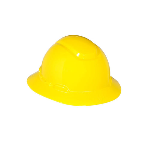 3M Full Brim Hard Hat H-802R  Yellow 4-Point Ratchet Suspension-Price is per 20 Each