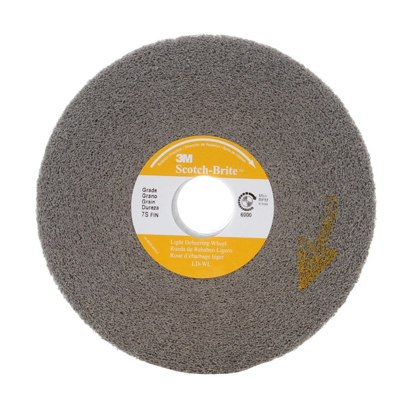 Scotch-Brite Light Deburring Wheel  LD-WL  7S Fine  6 in x 1 in x 1 in-Price is per 1 Each