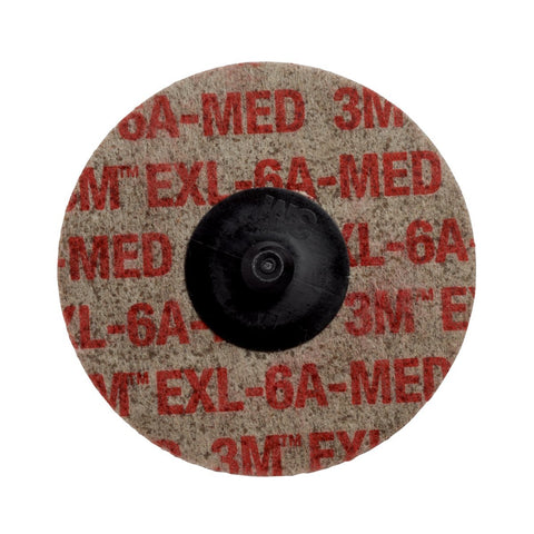 Scotch-Brite Roloc EXL Unitized Wheel TR  3 in x NH 6A MED-Price is per 1 Each