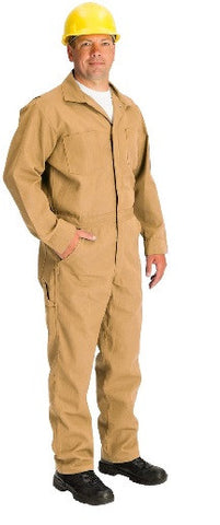 Topps DuPont Nomex® Flame Resistant Tan Coveralls—4.5 oz Unlined (Model CO07)