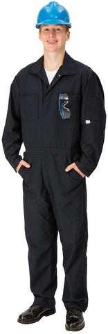 Topps DuPont Nomex® Flame Resistant Blue Coveralls—6.0 oz Unlined (Model CO07)