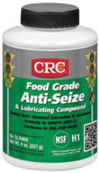 CRC® Sta-Lube Opaque/Off-White 8 Ounce Brush Top Bottle Food Grade Anti-Seize And Lubricating Compound-Price is per 1 Can