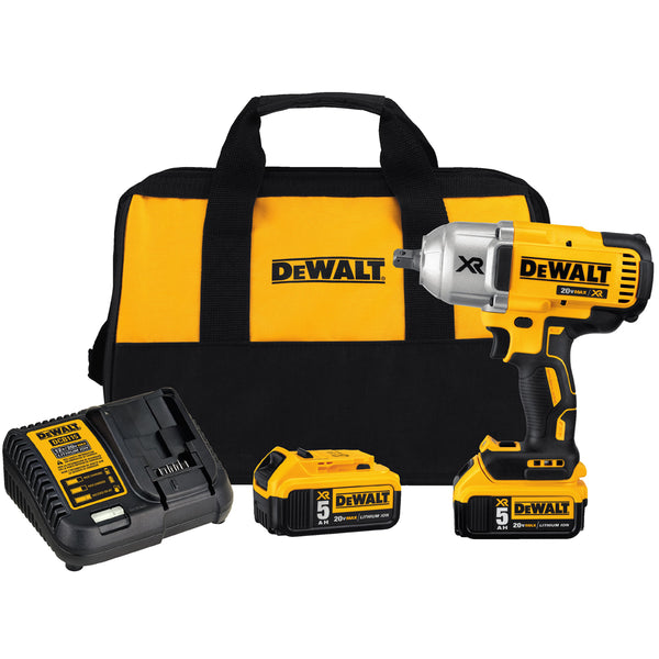 DEWALT® 20V MAX* XR 20 Volt 400 - 1900 rpm Cordless Impact Wrench Kit