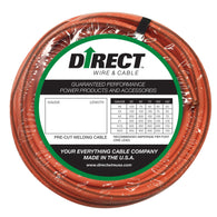 Direct Wire & Cable #1 Orange Ultra-Flex Welding Cable 25' Shrink Pack-Price is per 1 FT