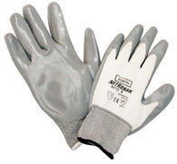 North® by Honeywell Size 10 Nitri Task™ Cut Resistant Gray Nitrile Palm Coated Work Gloves With White Seamless Nylon Liner And Knit Wrist