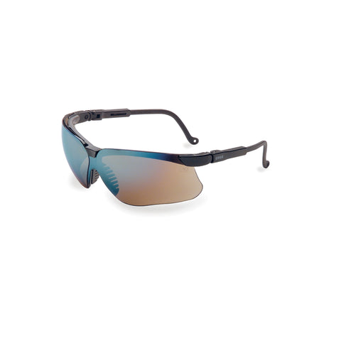 Honeywell Uvex Genesis Black Safety Glasses, Gold Lens