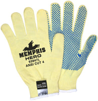 Memphis Glove Large Yellow And Blue Hero 13 Gauge DuPont Kevlar®