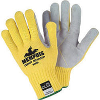 MCR Safety® Large Cut Pro 7 Gauge DuPont Kevlar® And Leather Cut Resistant Gloves-Price is per 1 Pair