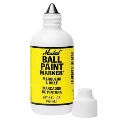 "Markal® Ball Paint Marker® Yellow Metal Ball Tip Ball Point Paint Marker With 1/8"" Wide Point-Price is per 1 Each"