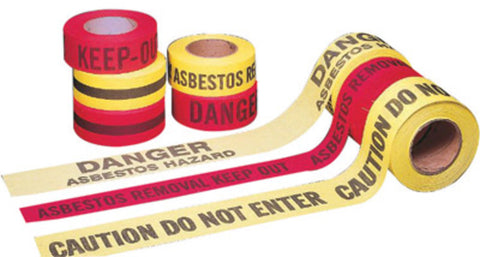 "Mutual Industries 3"" X 45 Yd Black/Red Cotton Barricade Tape ""DO NOT ENTER""-Price is per 20 Rolls"