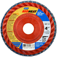 "Norton® Red Heat® 4 1/2"" X 7/8"" 36 Grit Type 27 Flap Disc-Price is per 10 Each"