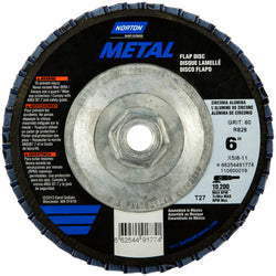 "Norton Metal 6"" X 5/8"" - 11 40 Grit Flap Disc"