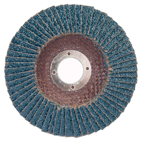 "Norton® Charger 4"" X 5/8"" 36 Grit Type 29 Flap Disc-Price is per 5 Each"