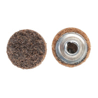 "Norton® 3"" 50 Grit Coarse Grade Aluminum Oxide Aggregate Bear-Tex® Vortex Rapid Prep Brown Quick Change Disc-Price is per 25 Each"
