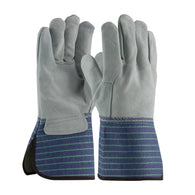 PIP® Large Shoulder Split Leather Palm Gloves With Leather Back And Gauntlet Cuff-Price is per 12 Pairs
