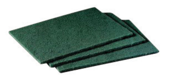 "3M 6"" X 9"" Scotch-Brite Green General Purpose Non-Woven Scouring Hand Pad"