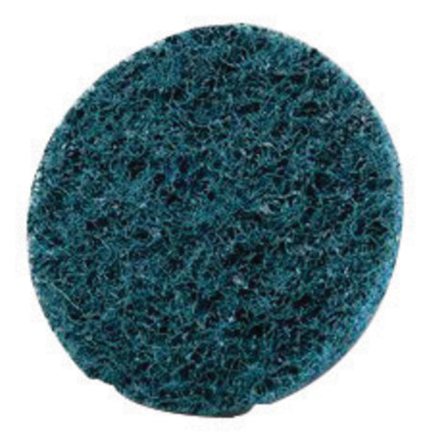 "3M 2"" X No Hole Very Fine Grade Aluminum Oxide Scotch-Brite Roloc Blue TSM Non-Woven Surface Conditioning Disc"