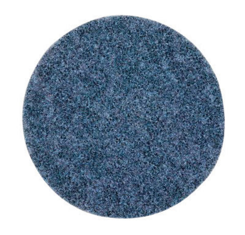 "3M 5"" X No Hole Coarse Grade Ceramic Scotch-Brite Blue Light Grinding And Blending Non-Woven Abrasive Disc"