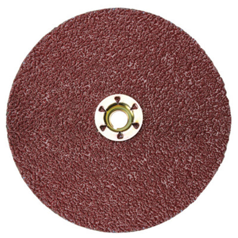 "3M 5"" X 5/8"" - 11 36 Grit 982C Cubitron II Very Coarse Grade Quick Change Closed Coat Resin Bond Fiber Disc (Attachment Type TN)"