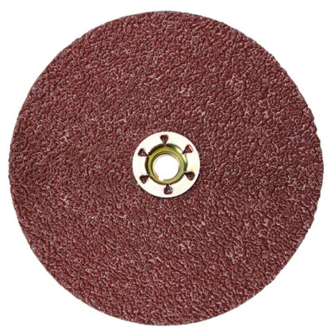 "3M 5"" x 5/8"" - 11 80 Grit 982C Cubitron II Medium Grade Quick Change Closed Coat Resin Bond Fiber Disc"