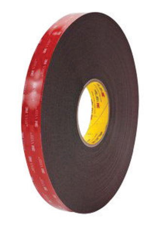 "3M 1/2"" X 36 yd Black VHB 5952 45 mil Acrylic Foam Double Sided Bonding Tape   -Price is per 18 Roll"