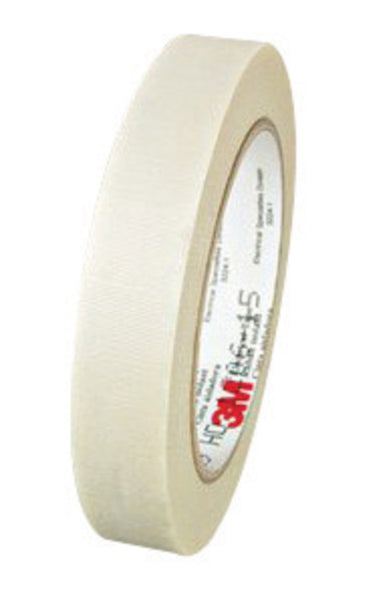 "3M 3/4"" X 66' White Scotch® 69 7 mil Glass Cloth Electrical Tape"