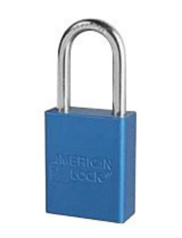 "American Lock® Blue 1 1/2"" X 3/4"" Aluminum 5 Pin Safety Lockout Padlock With 1/4"" X 1 1/2"" X 3/4"" Shackle -Price is per 6 Each"