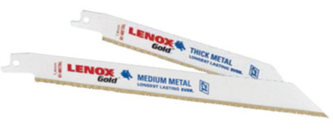 "6"" X 3/4"" X .035"" Lenox® Gold® T2 Technology Universal Style Bi-Metal Metal Cutting Reciprocating Saw Blade With 24 Teeth Per Inch"
