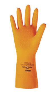 Ansell Size 10 Orange 208 Latex/Rubber