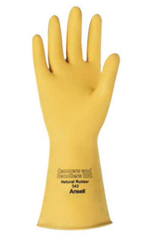 Ansell Size 10 Natural Canners And Handlers Latex/Rubber